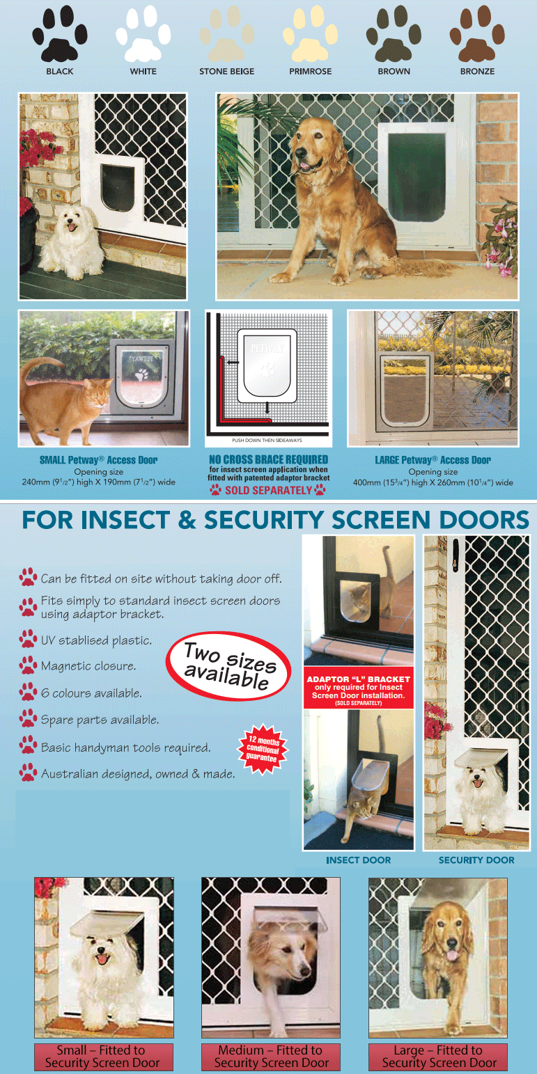 Pet Doors In Adelaide All Wholesale Security Doors All Wholesale